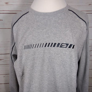 Vintage Nike Embroidered Logo Mens Gray Sweatshirt
